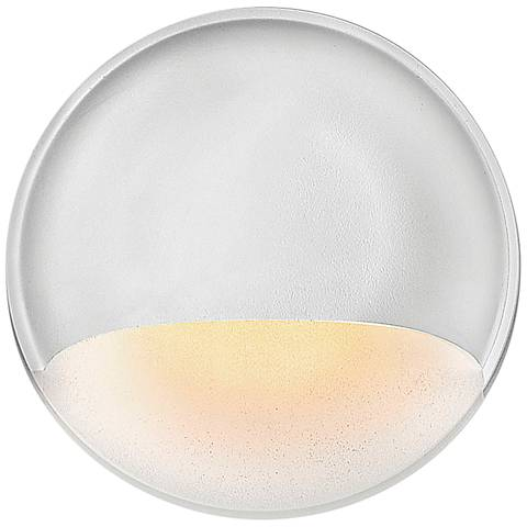 Hinkley Matte White Round Low Voltage Deck/Wall Sconce