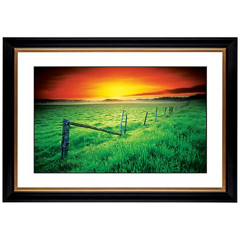 "Sunrise Fenceline Giclee 41 3/8"" Wide Wall Art"