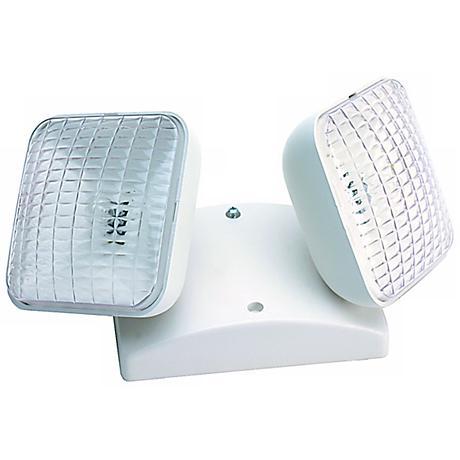 Dual Square Head Indoor 5.4 Watt Remote Emergency Light