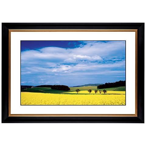 """Mustard Flowers Giclee 41 3/8"""" Wide Wall Art"""