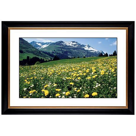 """Mountain Flower Meadow Giclee 41 3/8"""" Wide Wall Art"""