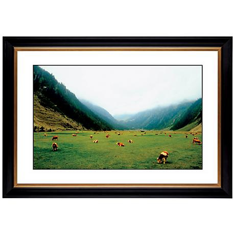 "Alpine Pasture Giclee 41 3/8"" Wide Wall Art"