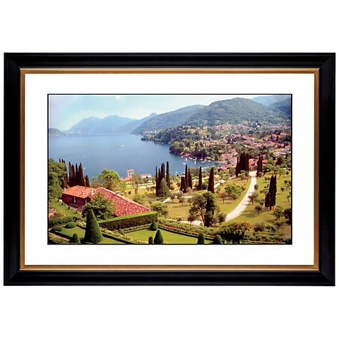 "Italian Lake Giclee 41 3/8"" Wide Wall Art"