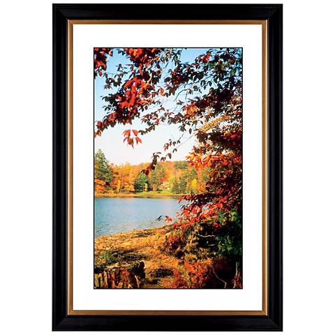 "Autumn at the Lake Giclee 41 3/8"" High Wall Art"