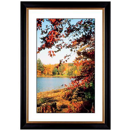 "Autumn at the Lake Giclee 41 3/8"" High Wall Art"