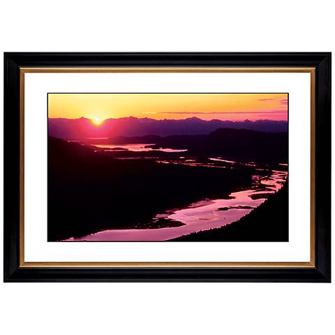 "River Sunset Giclee 41 3/8"" Wide Wall Art"