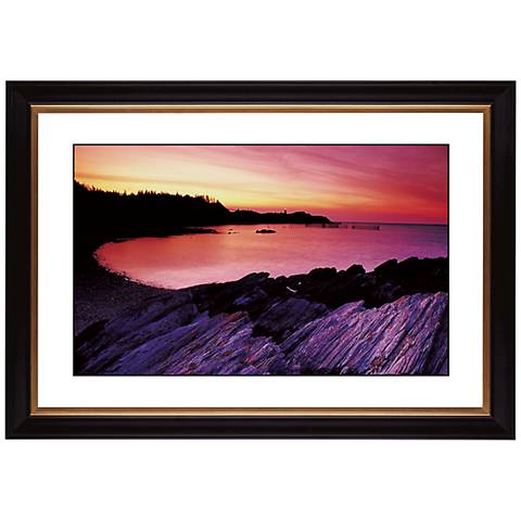 """Red Lake Sunset Giclee 41 3/8"""" Wide Wall Art"""