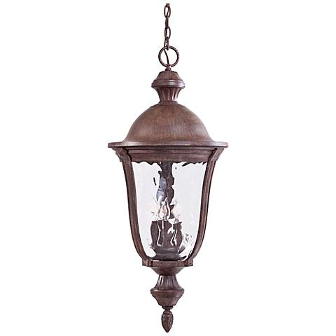 "Ardmore 36"" High Rust Hanging Outdoor Light"