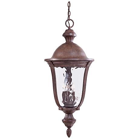 "Ardmore 36"" High Rust Hanging Outdoor Light"