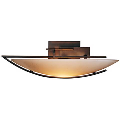 """Oval Ondrian Left Stone Glass 17 3/4"""" Wide Wall Sconce"""