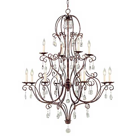 Feiss Chateau Mocha Bronze Twelve Light Chandelier