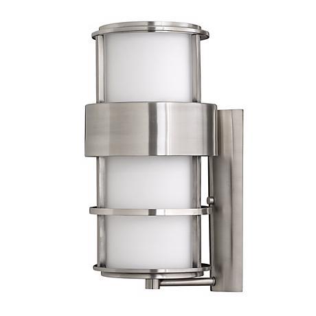 "Hinkley Saturn Steel 20 1/4"" High Outdoor Wall Light"