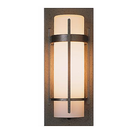 """Hubbardton Forge Banded 16"""" High Outdoor Wall Light"""