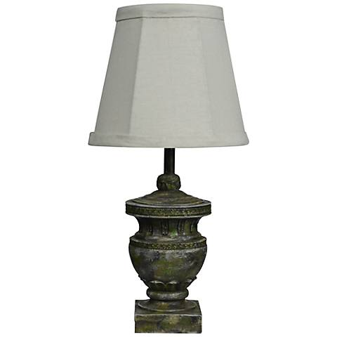 Capri Classic Concrete Color Urn Small Accent Table Lamp