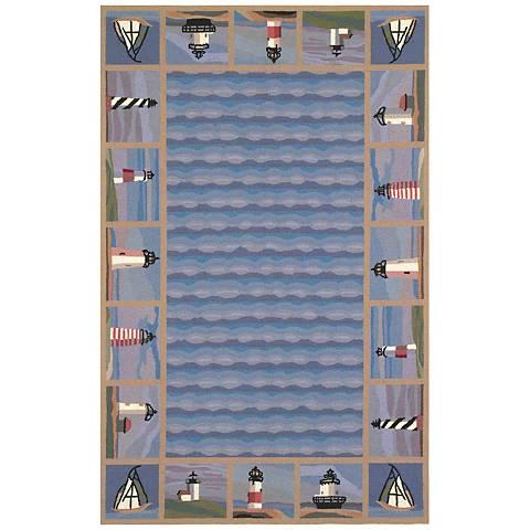 Kas Colonial Blue COL1802 Wool Area Rug