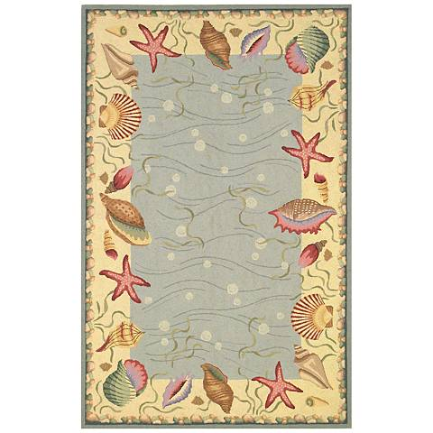 Kas Colonial Blue COL1804 Wool Area Rug