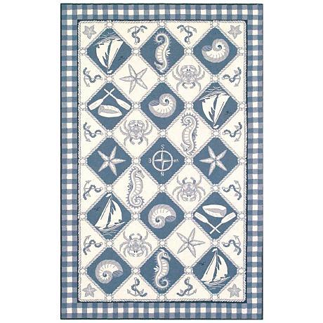 Kas Colonial Blue COL1807 Wool Area Rug