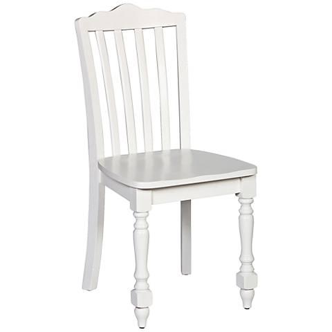 Hillsdale Lauren White Armless Desk Chair