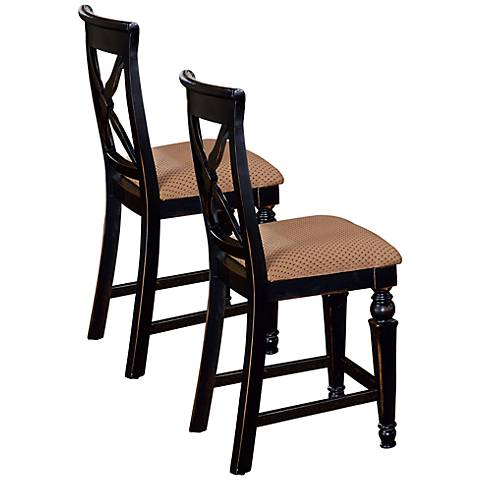 """Hillsdale Northern Heights 24"""" Parson Counter Stool Set of 2"""