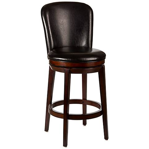 "Hillsdale Victoria 30 1/4"" Brown Cherry Swivel Bar Stool"