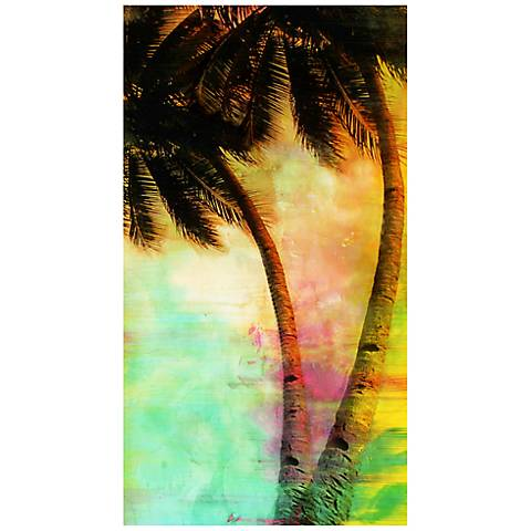 "Palms II 22"" High Abstract Canvas Giclee Wall Art"