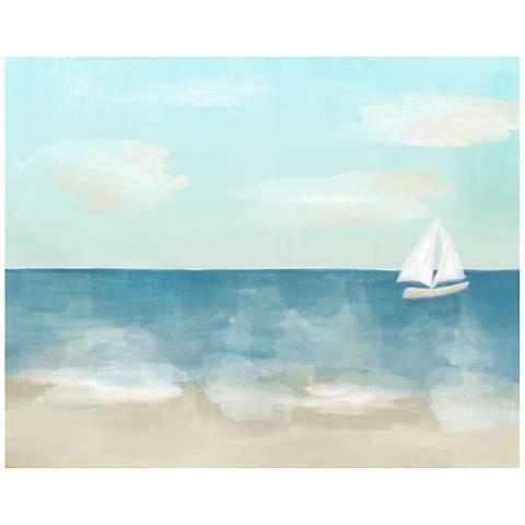 "Sailboat 20"" High Coastal Canvas Giclee Wall Art"