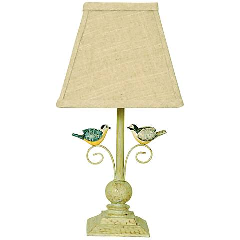 "Out On a Limb 12"" High Love Birds Table Lamp"