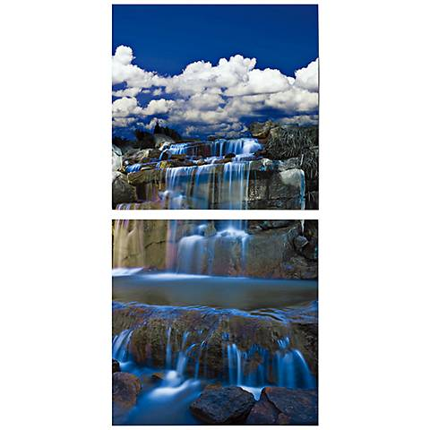 "Set of 2 Cascades 19 3/4"" Square Canvas Wall Art"