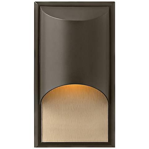 "Hinkley Cascade Bronze 14 1/2""H LED Outdoor Wall Light"