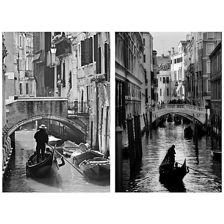 "Set of 2 Iconic Italy 23 3/4"" High Canvas Wall Art"