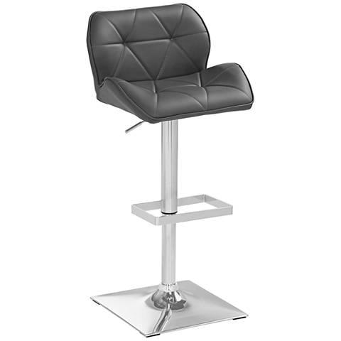 Boulton Chrome and Gray Adjustable Barstool