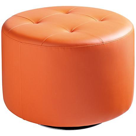 Domani Large Orange Swivel Ottoman
