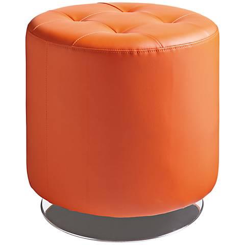 Domani Small Orange Swivel Ottoman