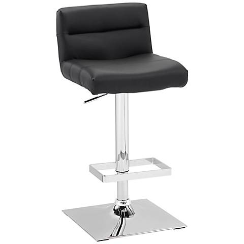 Stafford Black Adjustable Height Barstool