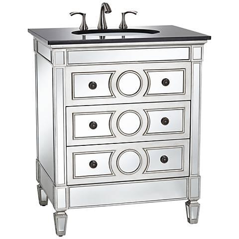 DuVall Mirrored Single Sink Vanity