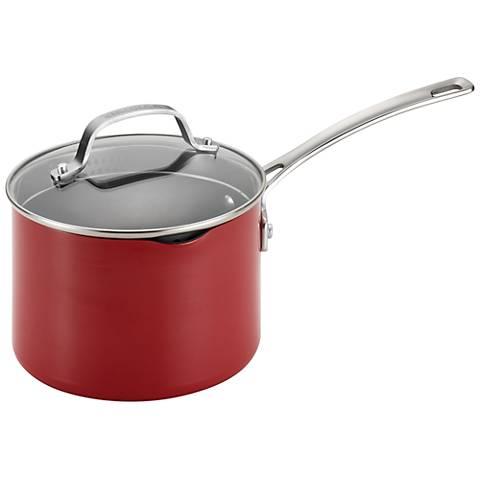 Circulon Genesis Nonstick 3-Quart Red Saucepan