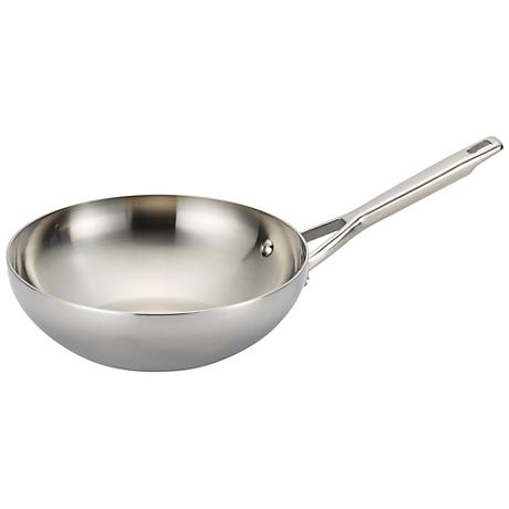 "Anolon Tri-Ply Clad Stainless Steel 10 3/4"" Stir Fry Pan"