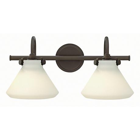 "Congress 19 1/4""W Opal Glass Oil-Rubbed Bronze Bath Light"