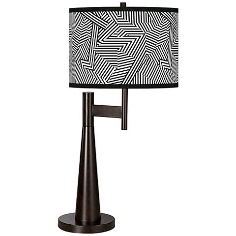 Labyrinth Giclee Novo Table Lamp