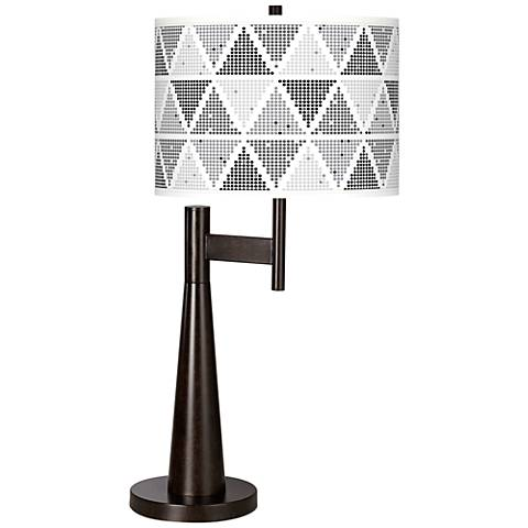 Pointillism Giclee Novo Table Lamp