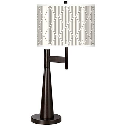 Diamond Maze Giclee Novo Table Lamp