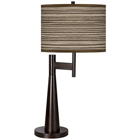 Cedar Zebrawood Giclee Novo Table Lamp