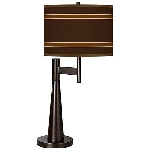Saratoga Stripe Giclee Novo Table Lamp