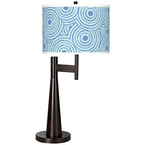 Circle Daze Giclee Novo Table Lamp