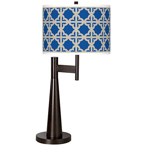Four Corners Giclee Novo Table Lamp