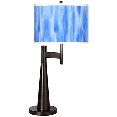 Blue Tide Giclee Novo Table Lamp