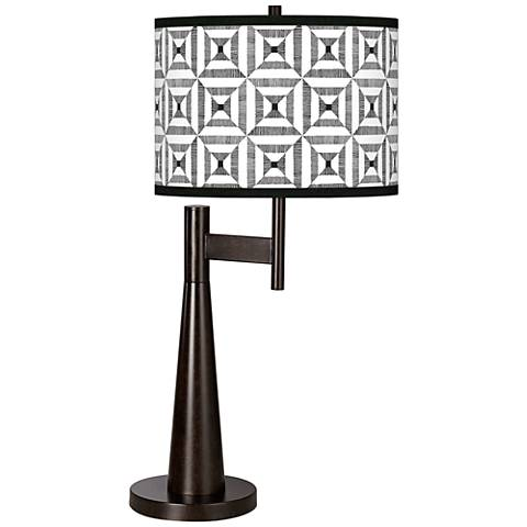 Tile Illusion Giclee Novo Table Lamp