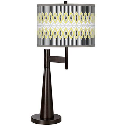Desert Geometric Giclee Novo Table Lamp