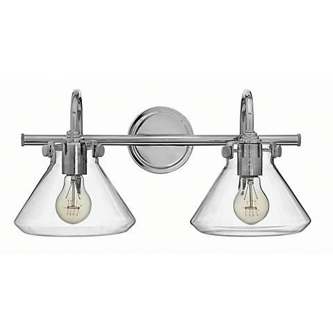 "Hinkley Congress 19 1/4""W Clear Glass Chrome Bath Light"