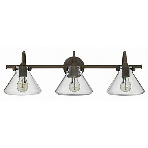 "Congress 29 1/2"" Wide Oil Rubbed Bronze 3-Light Bath Light"